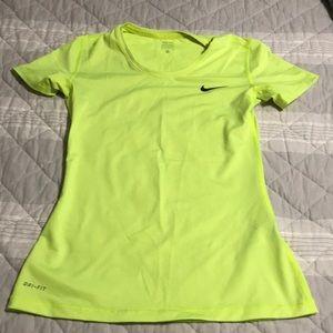 Nike pro dri fit short sleeve tee-volt color